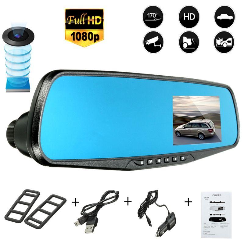 2.8/'/' Car DVR HD 1080P Vehicle Dash Cam Rearview Mirror Camera Recorder NEW