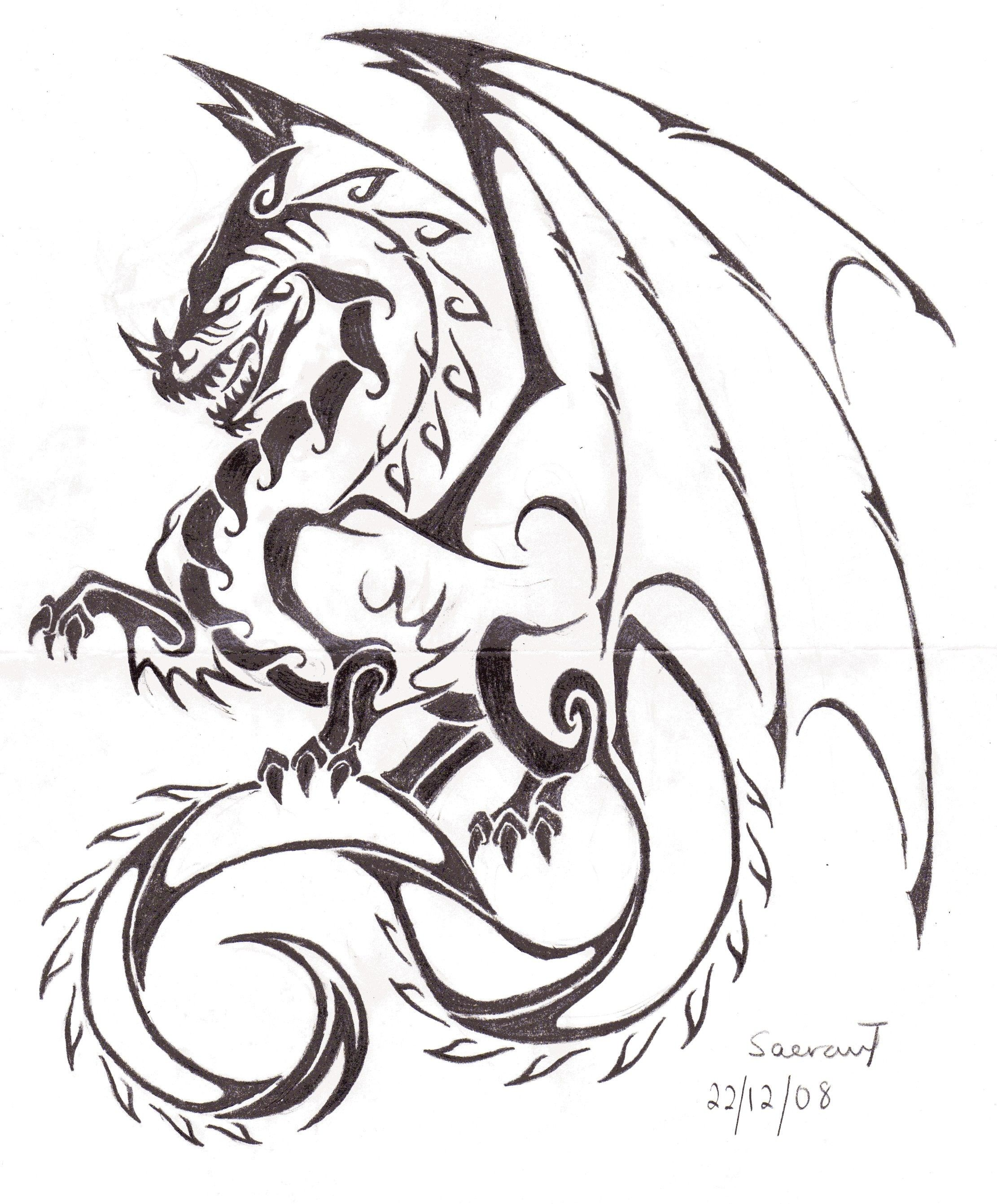 Pin By Patty O Brien On Flores De Lotus Dragon Tattoo Vector Tribal Dragon Tattoos Dragon Tattoo Sketch