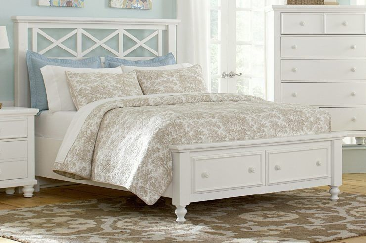 White Queen Bed Frames With Drawers Storage Underneath Ide