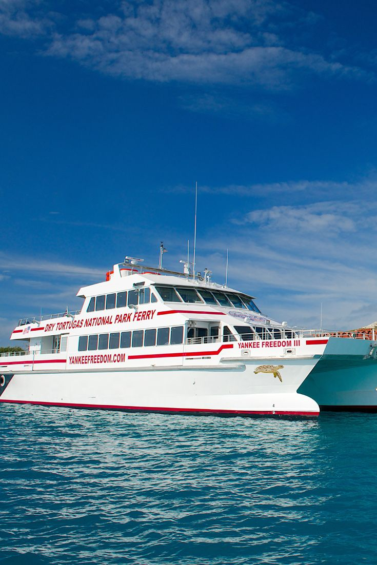 Travel In Comfort To The Dry Tortugas Aboard The Yankee Freedom Iii Ferry Enjoy Outside Sundeck Seating Or Rela Dry Tortugas National Park Boat Trips Key West