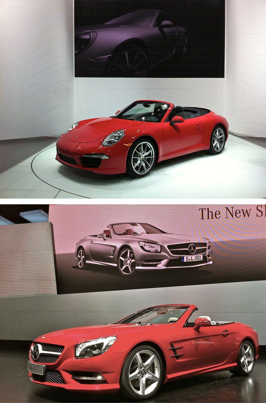 Hot Porsche 911 Cabriolet / Not Mercedes SL550 NAIAS
