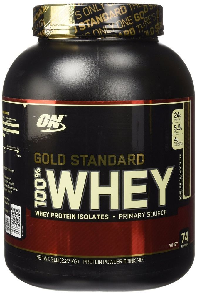 Optimum Nutrition 100 Whey Protein Chocolate 5 Pound Muscle Body