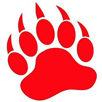image result for red bear paw print school pinterest bear paws rh pinterest com polar bear paw print clip art polar bear paw print clip art