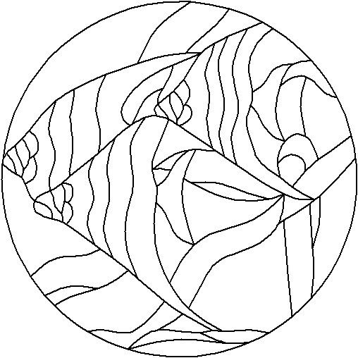 Angel fish | mandalas para cds | Pinterest | Mandalas, Mosaicos y Pintar