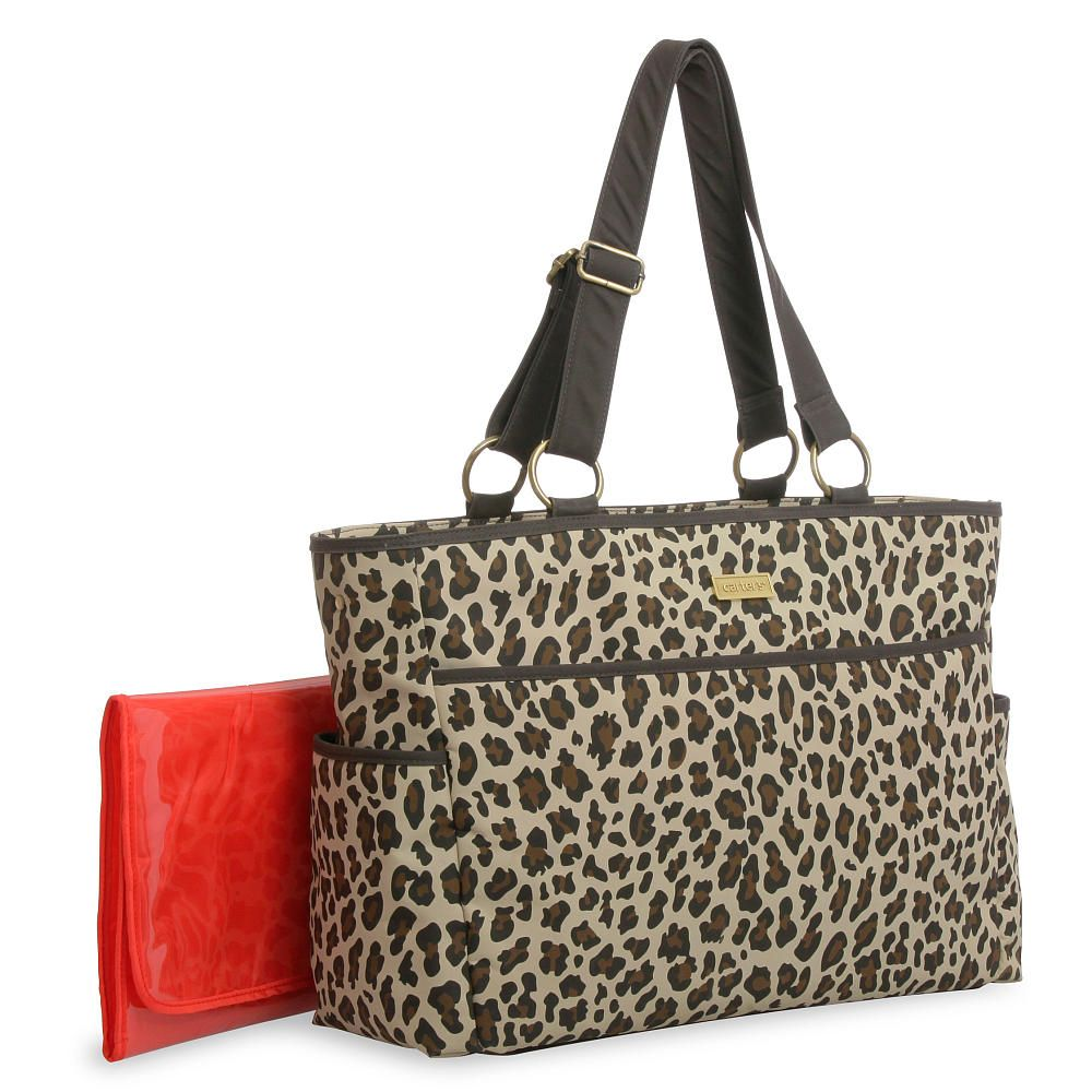 Carters Out And About Diaper Bag Cheetah Print