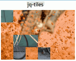 jq-tiles is a jQuery to build a Slideshow with amazing