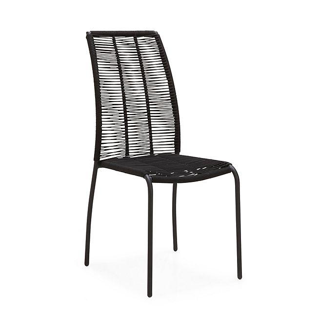 Eugenie Chaise En Fil Plastique Noir Chaise Design Chaises Salon Chaise D Exterieur