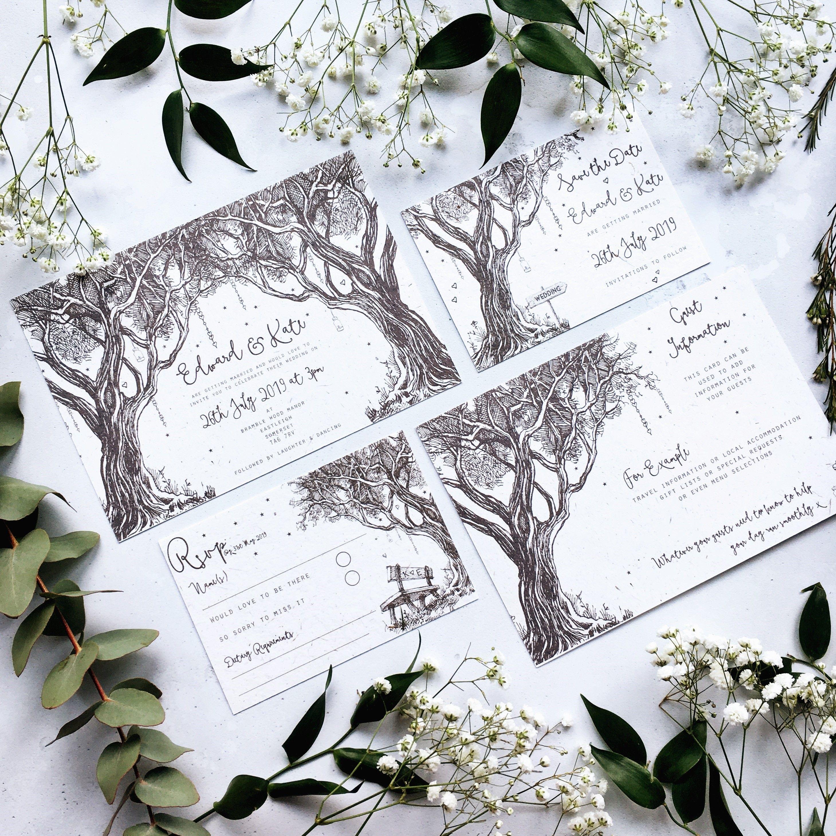 Enchanted Wedding Invitation- Woodland Wedding Invitation - Fairy ...
