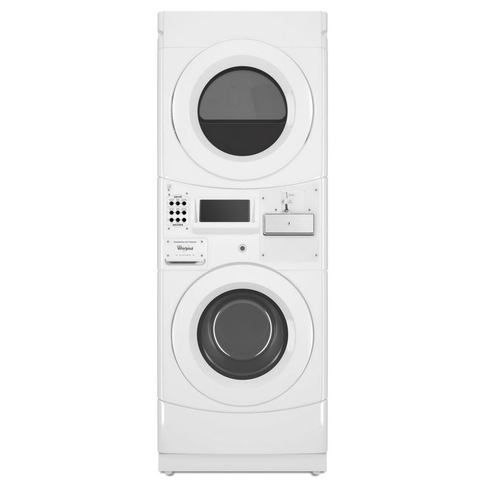 Whirlpool White Commercial Laundry Center With 3 1 Cu Ft Washer