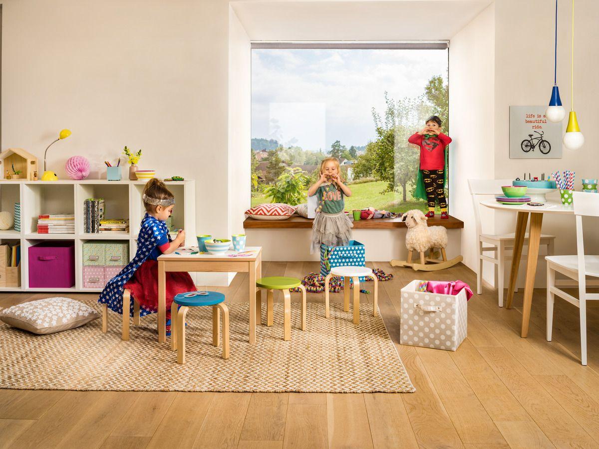 Micasa Kinderzimmer mit Kindertisch TEDDY und Kinderhocker