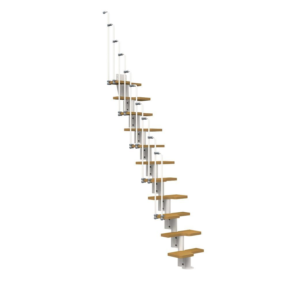 Best Arke Nice2 White 22 In Modular Staircase Kit Spiral 400 x 300