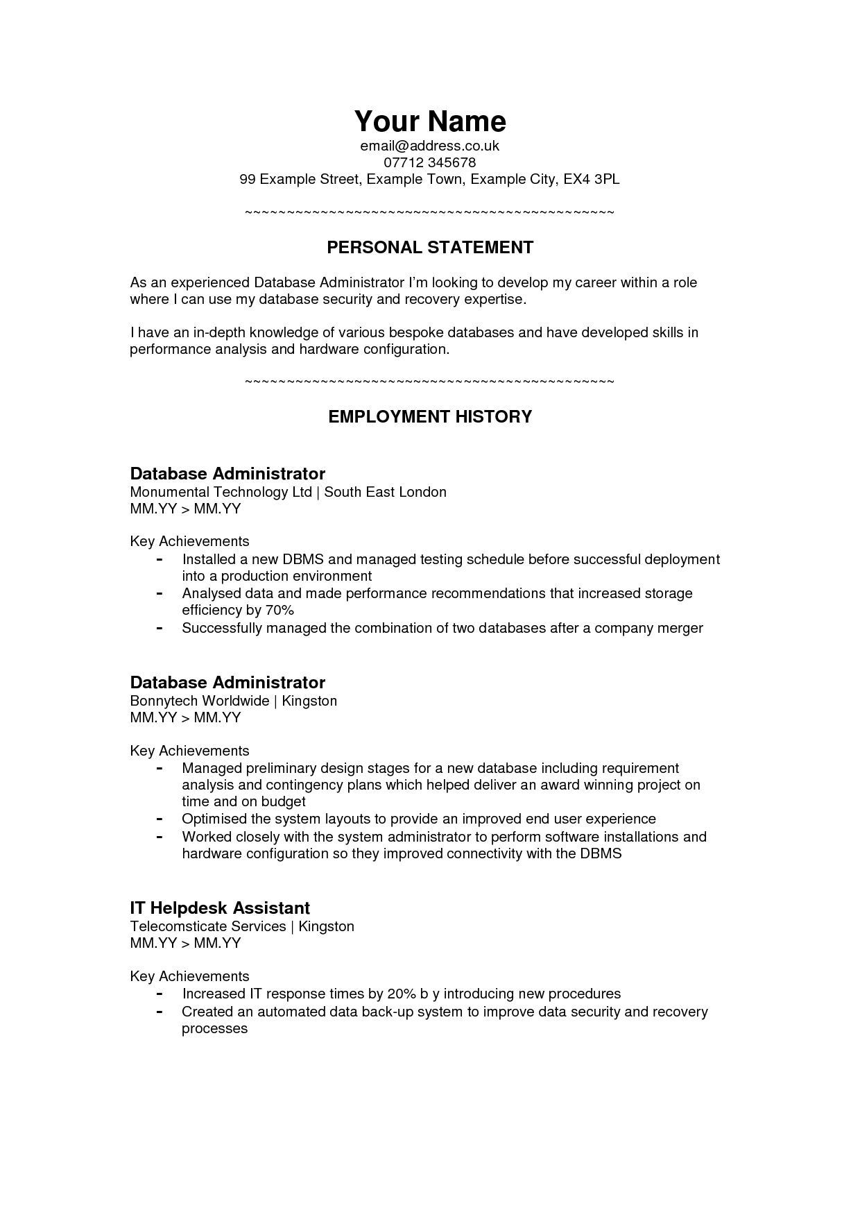 personal branding statement resume examples png | Home Design Idea ...