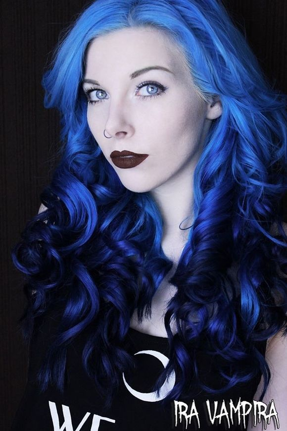 The Artistry Of Hair | Neon blue hair