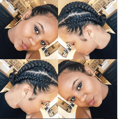 Natural Styles Cornrows With A Twa Natural Hair Braids Natural Hair Styles Braided Hairstyles