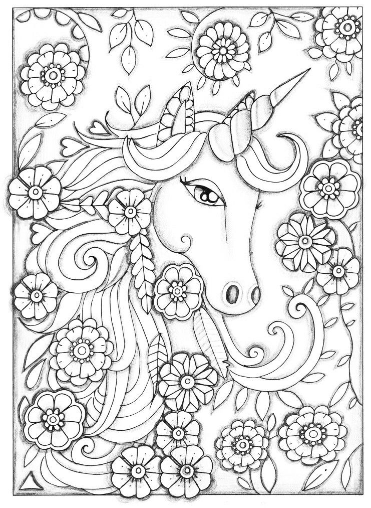 Unicorn | Unicorn coloring pages, Coloring pages, Adult ...