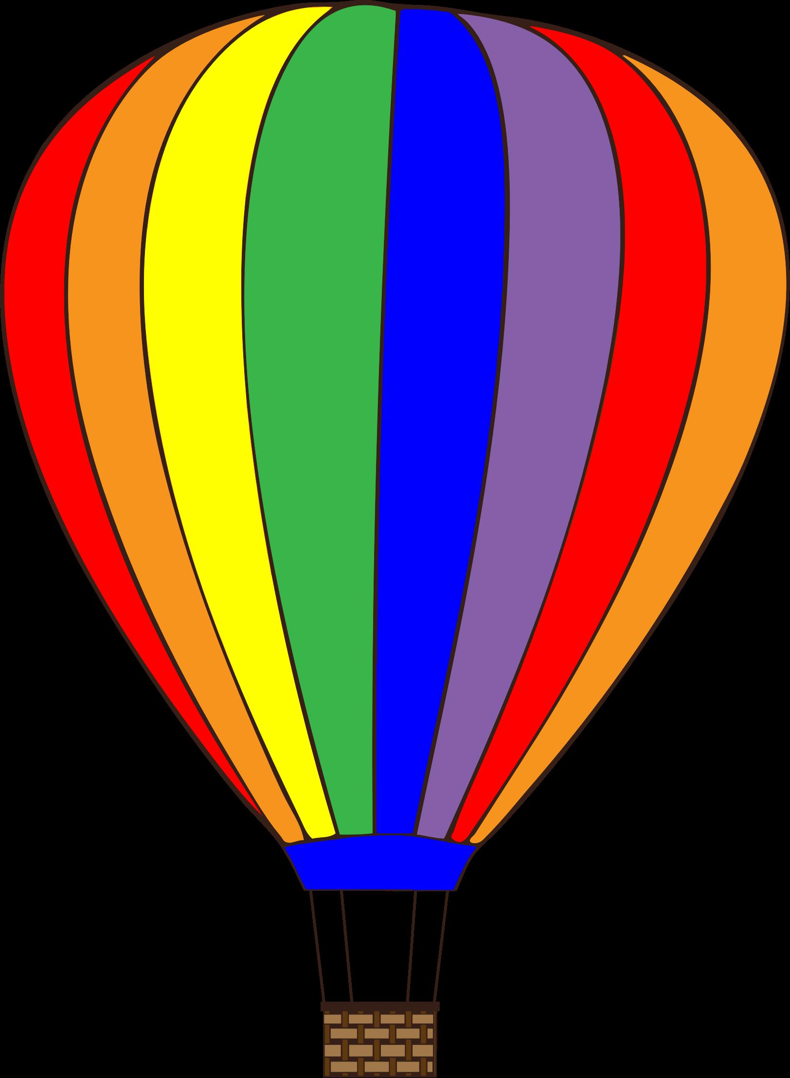 clipart - colorful hot air balloon