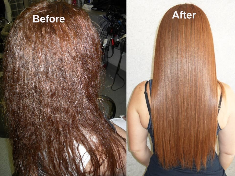 Smooth hair for summer this amazing before after is from sam wong salon with keragreen 39 s - Salon straightening treatments ...