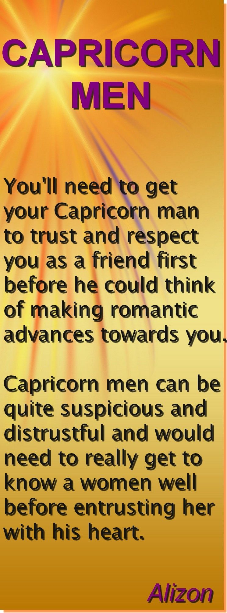 How to impress a capricorn man