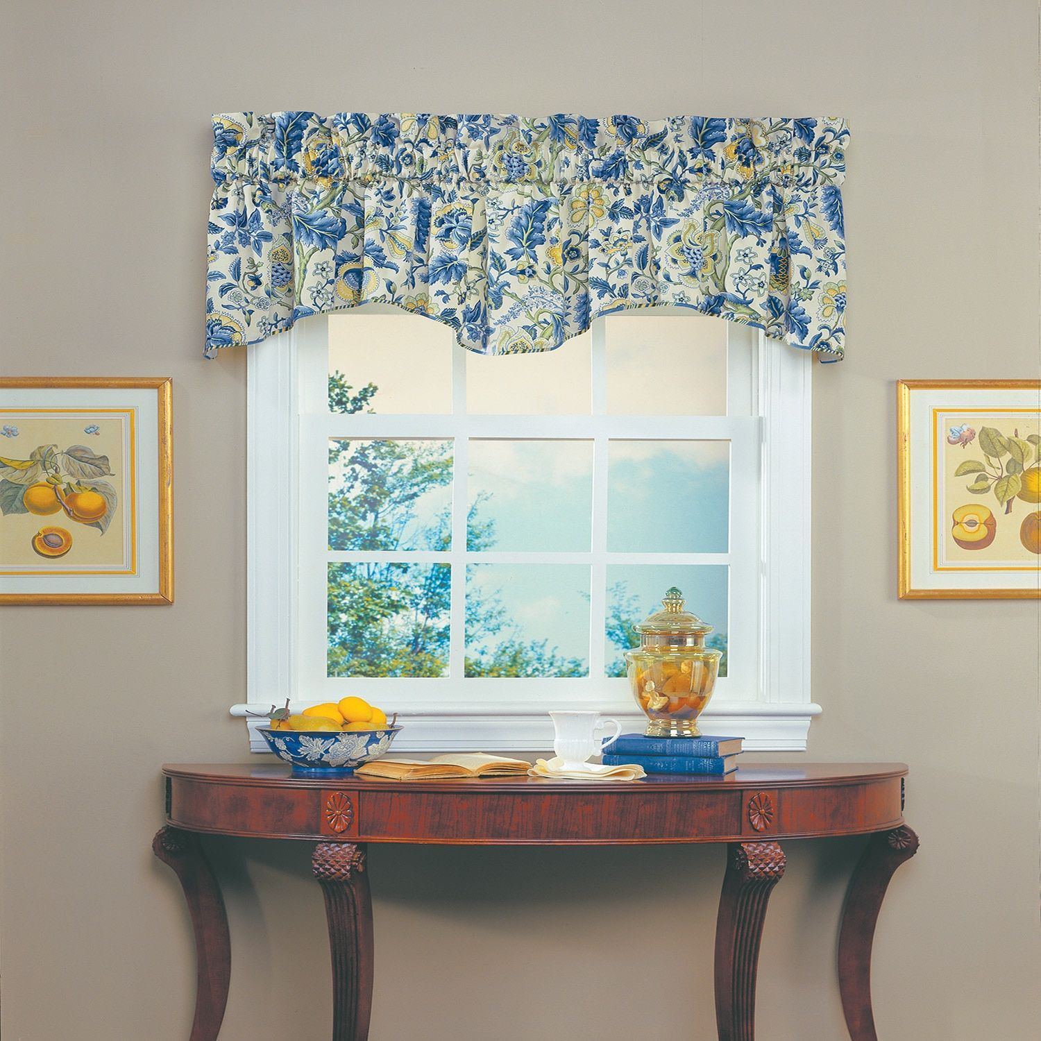 Waverly Imperial Dress Valance Porcelain Multi 100