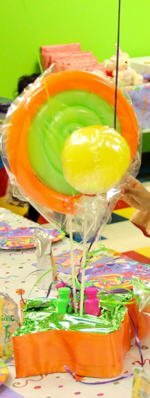 Simple candy Theme,lollipop,swirl candy table top balloons