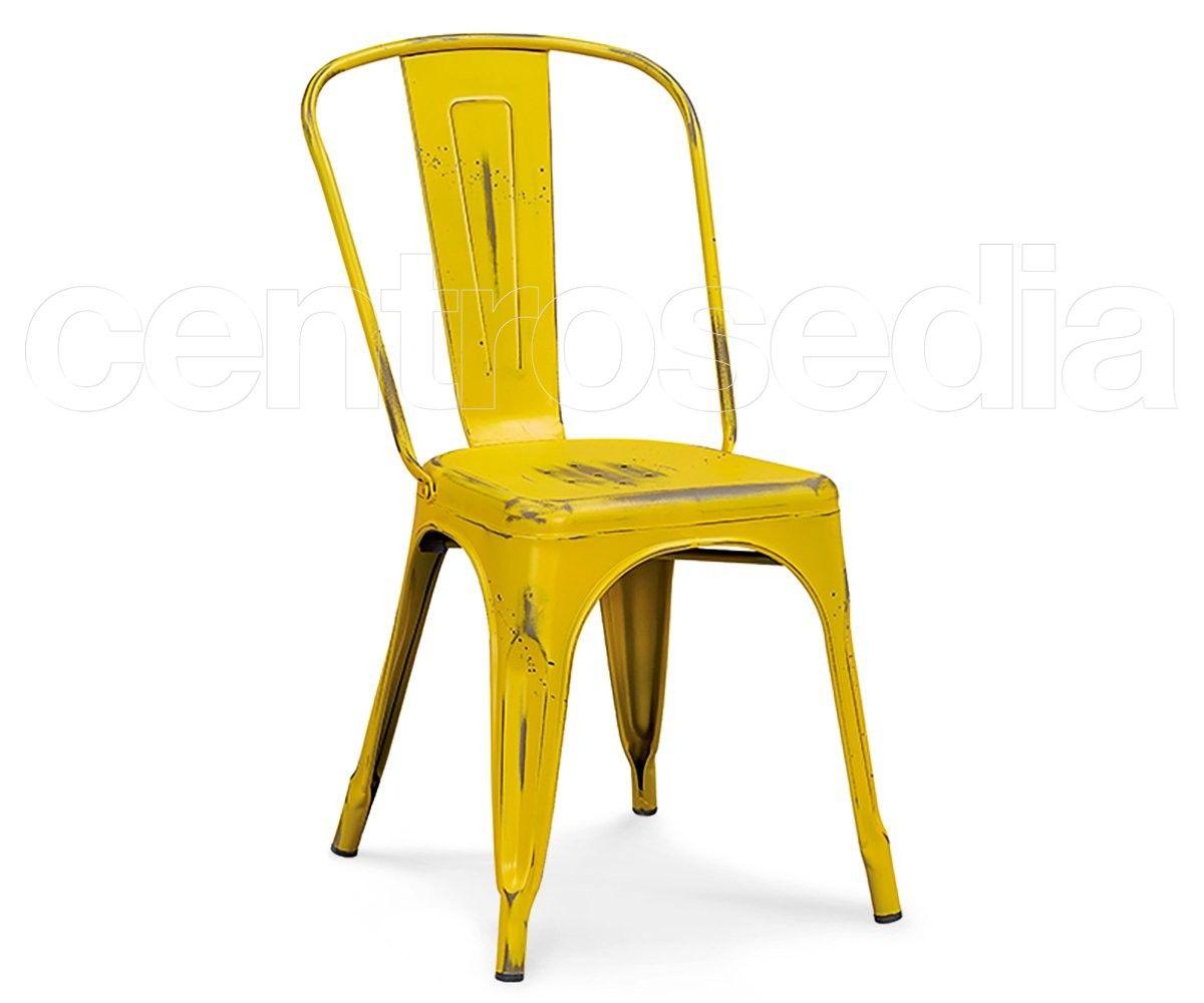 Sedie Scandinave ~ Virginia sedia metallo old style seduta legno tavoli e sedie