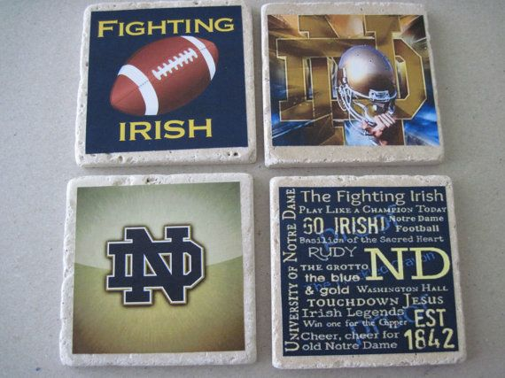 Coasters for your favorite team. Each coaster measures approximately 4X4 inches and is unique due to the attractive variations on each natural
