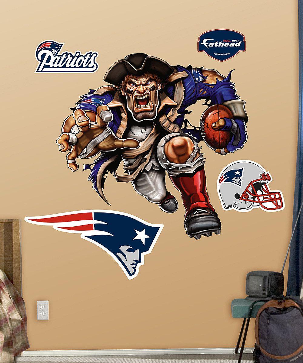 New England Patriots Mascot Wall Decal Set Zulily Wall Decals New England Patriots Patriots