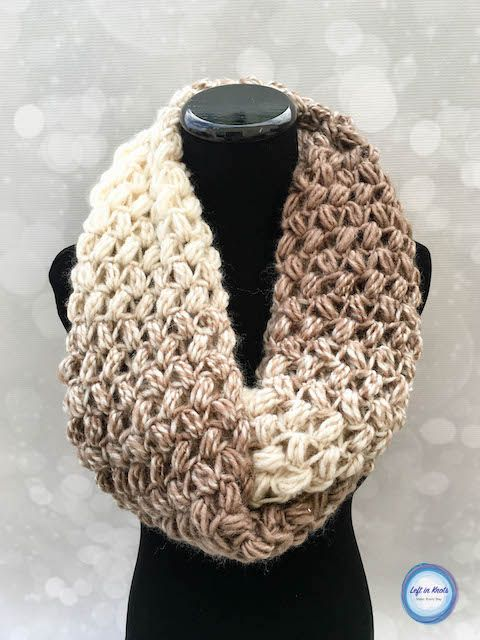 Coffee Bean Infinity Scarf Crochet Pattern | Tücher, Schals tücher ...