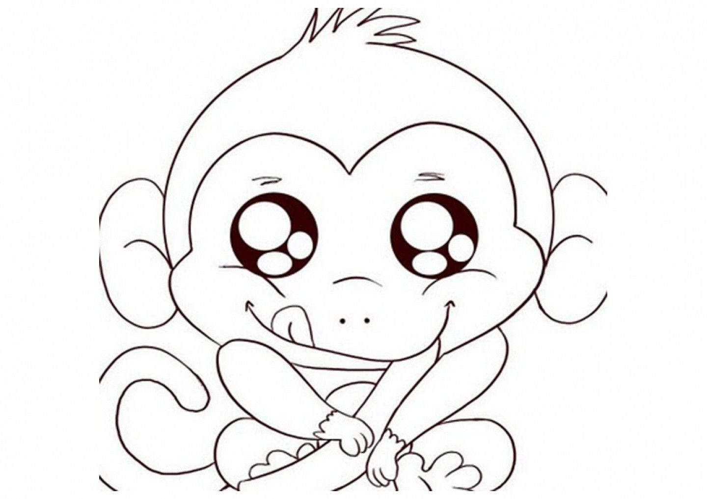 10 Images Of Monkey Coloring Pages Free Printable Coloring Images