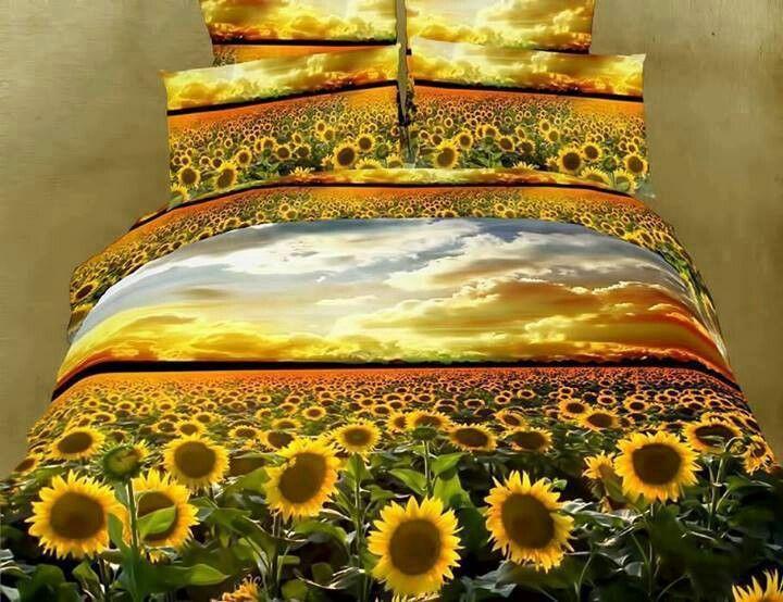 Sunflower Bed Set Queen Bedding Sets Flower Duvet Cover 3d