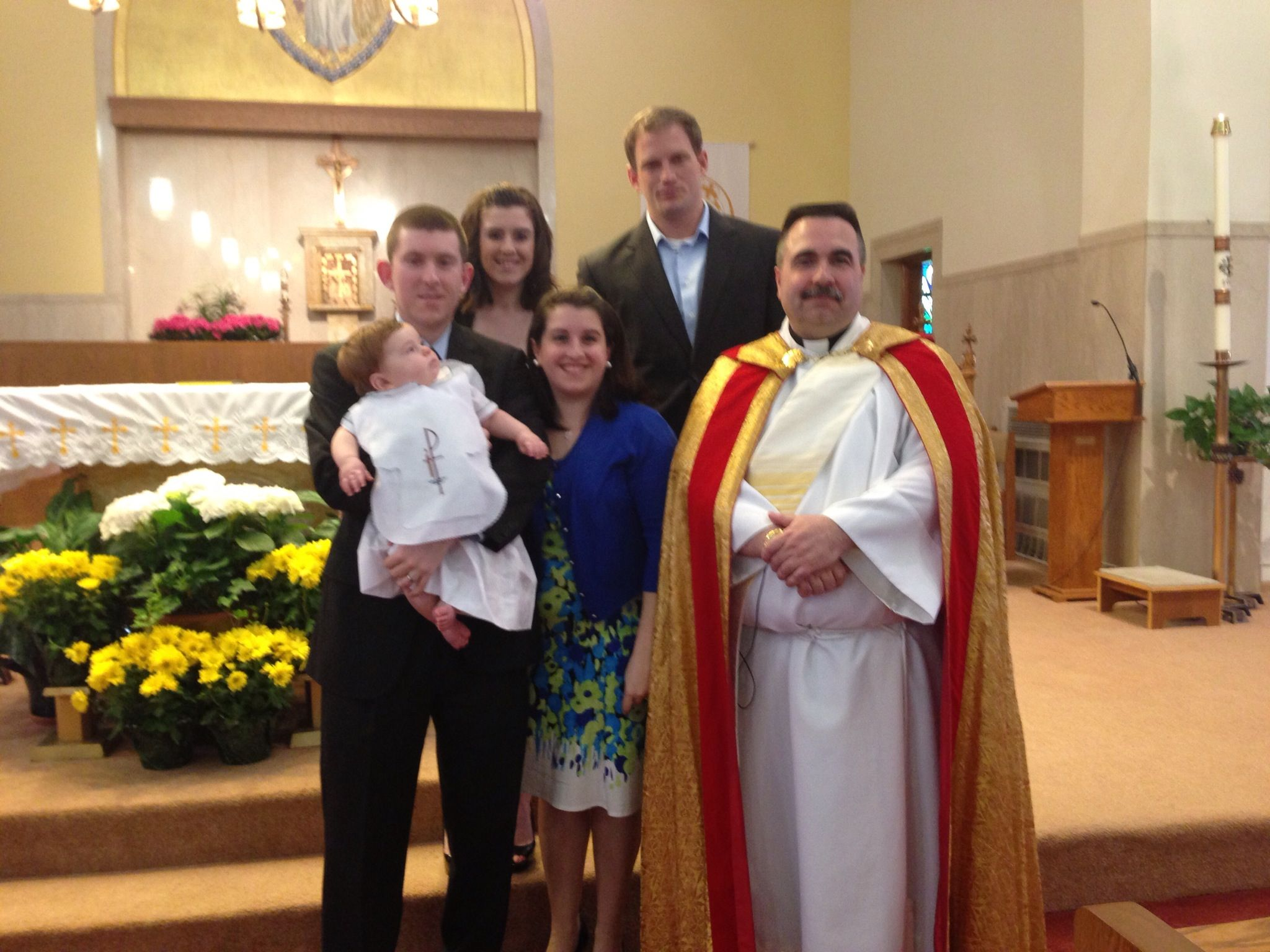 (10) Matthew Patrick O'Dowd. Baptized 4/14/2013. St Margaret Church Burlington MA. Parents Sean and Melissa.