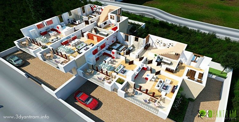 home 3d site floor plan dubai uae - 3d Home Floor Plan