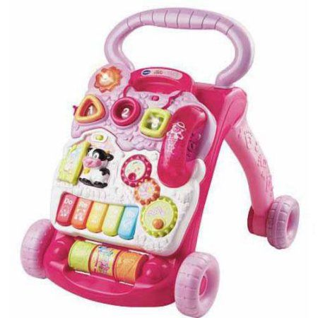Free 2 Day Shipping On Qualified Orders Over 35 Buy Vtech Sit To Stand Learning Walker Pink At Walmart Com