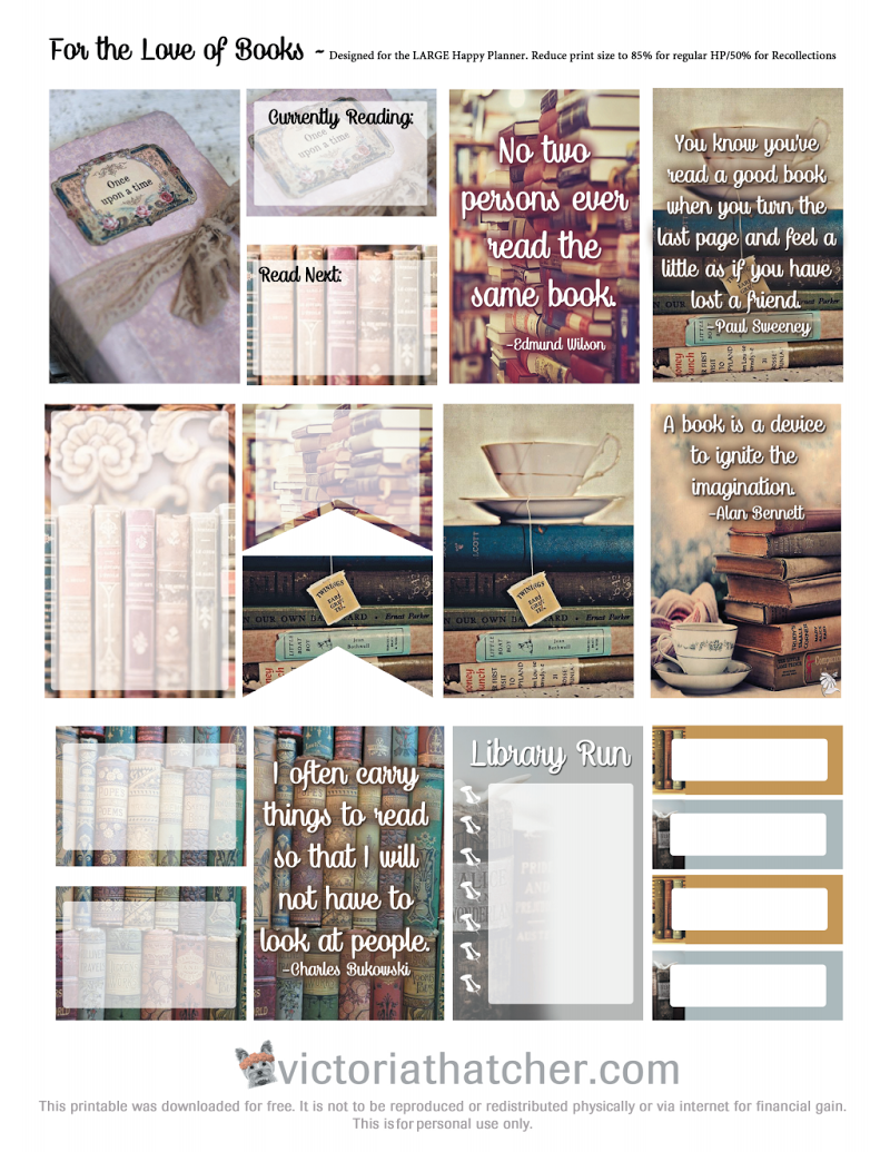 Book and reading at a library stickers / printables for my book journal / notebook #reading