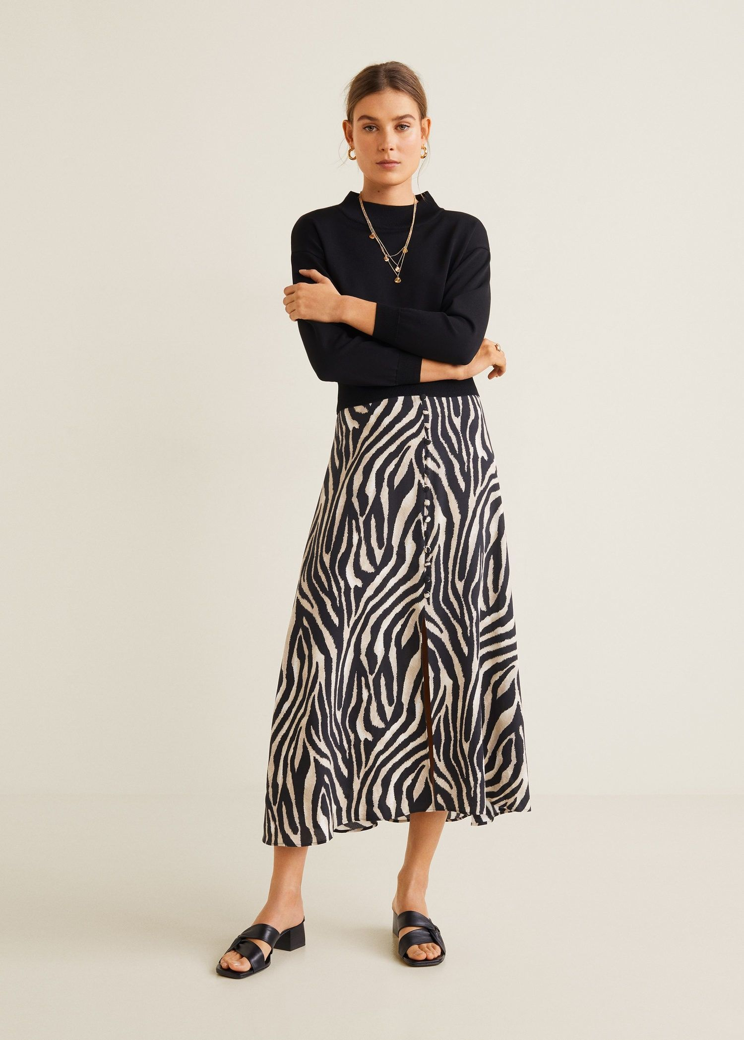 872220123 Zebra print skirt - Women in 2019 | The work edit: office wardrobe ...