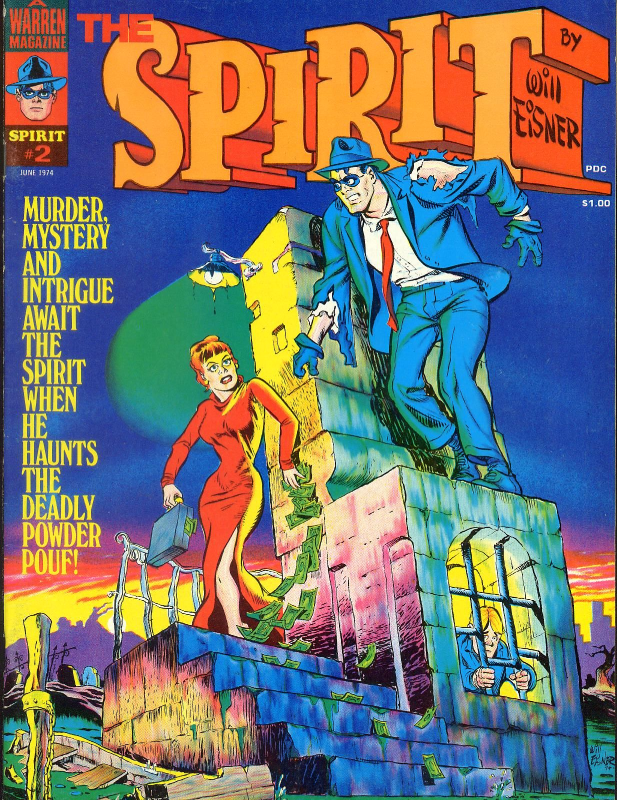 The Spirit magazine #2, cover by Will Eisner