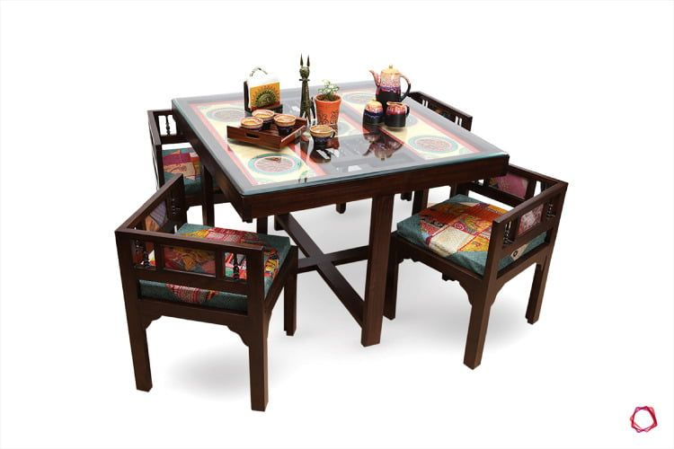 Timeless Traditional Handcrafted Furniture Designs 4 Seater Dining Table Wooden Dining Table Designs Four Seater Dining Table