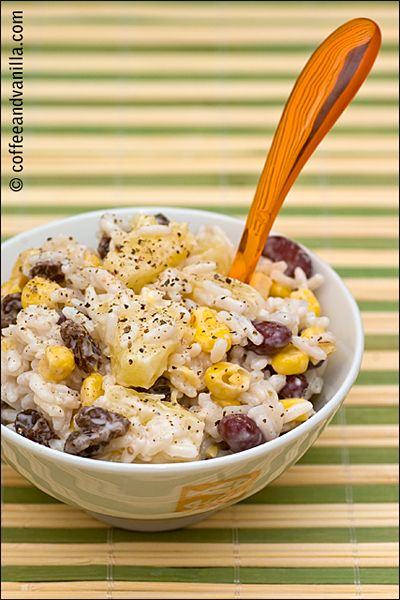 Rice salad with pineapple red kidney beans sweet corn raisins rice salad with pineapple red kidney beans sweet corn raisins ccuart Choice Image