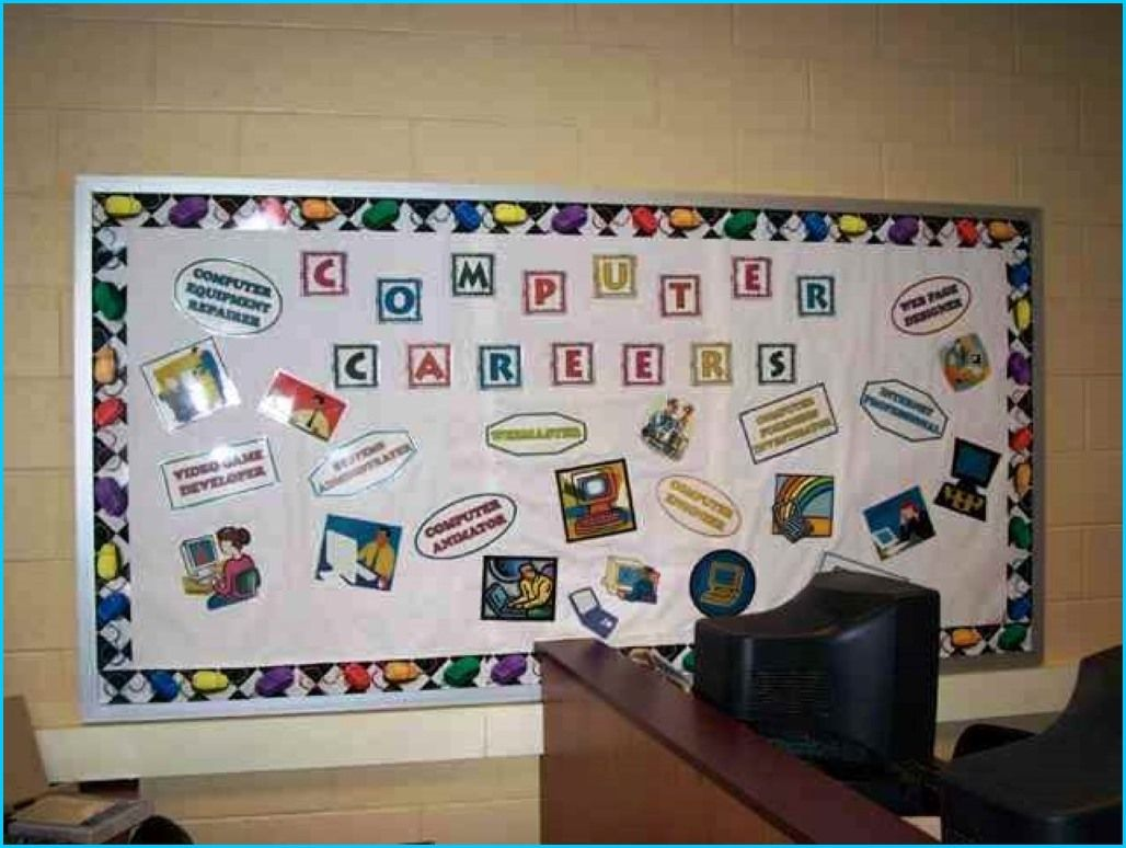 Computer Classroom Decoration : Very creative computer lab bulletin board decoration ideas