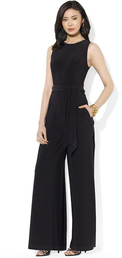 9878198cf94ee Use code  shopstyleFF    Lauren Ralph Lauren Sleeveless Wide-Leg Jumpsuit