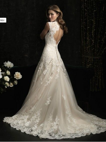 Nice A Line Stunning Ball Gown With Lace Chapel Train Wedding Dress In Canada