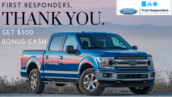 Metro Ford Of Okc Promotes Ford S First Responder Appreciation Program Offering Select First Responders 500 Bonus Cash On A New Ford Bonus Cash Ford One