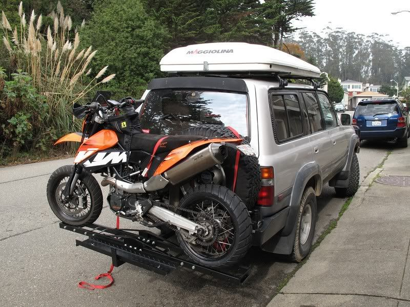 This looks just like my cruiser! That is perfect.....cruiser w/dirt bike on back!!!