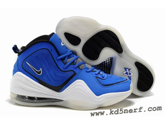Nike Air Penny 5 Penny Hardaway Shoes Blue White Discount