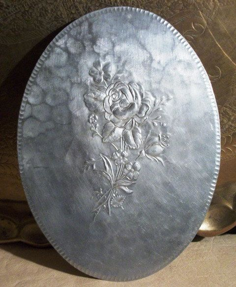 Everlast Hand Hammered Aluminum Hot Plate By Etsy Rs4u Metal Trays Hammered Aluminum