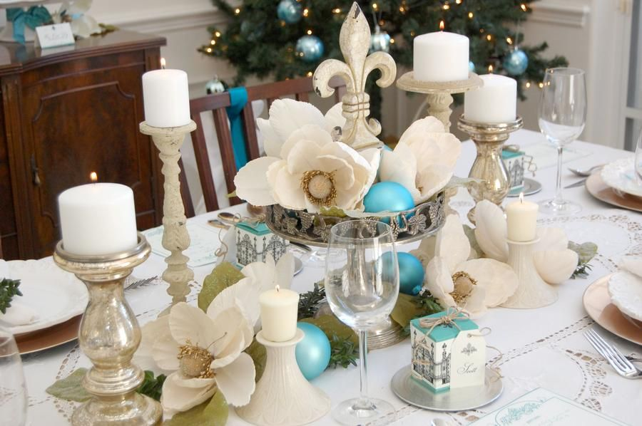 Joyeux Noelle- Christmas setting Party ideas Pinterest