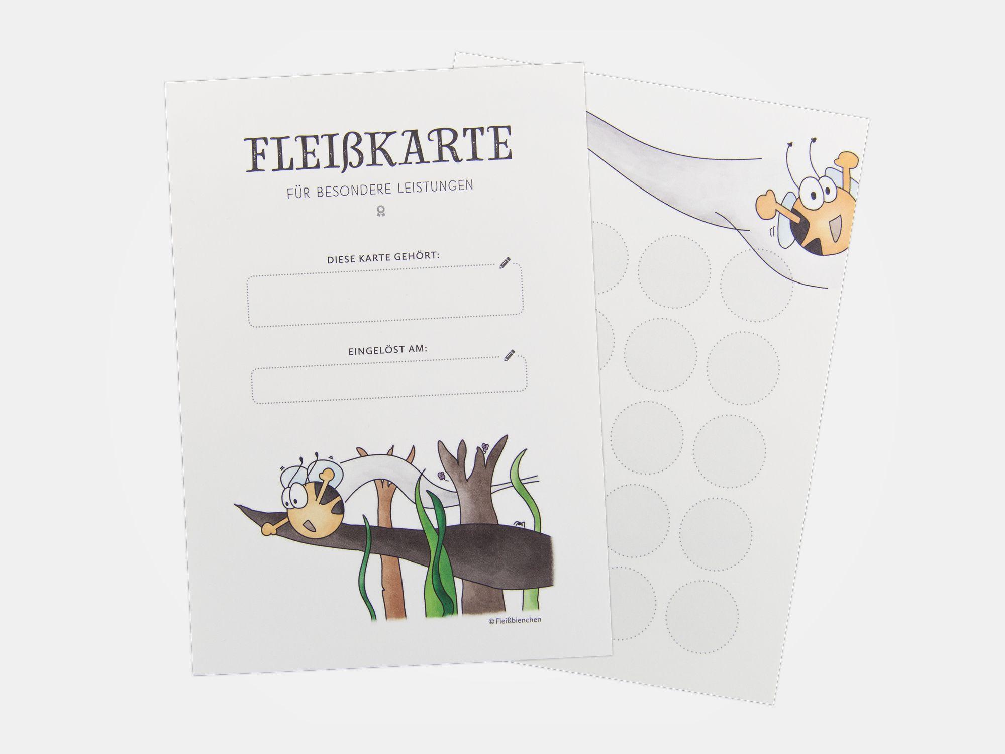 Fleisskarte Fur Besondere Leistungen Stempelkarte Karten Stempel