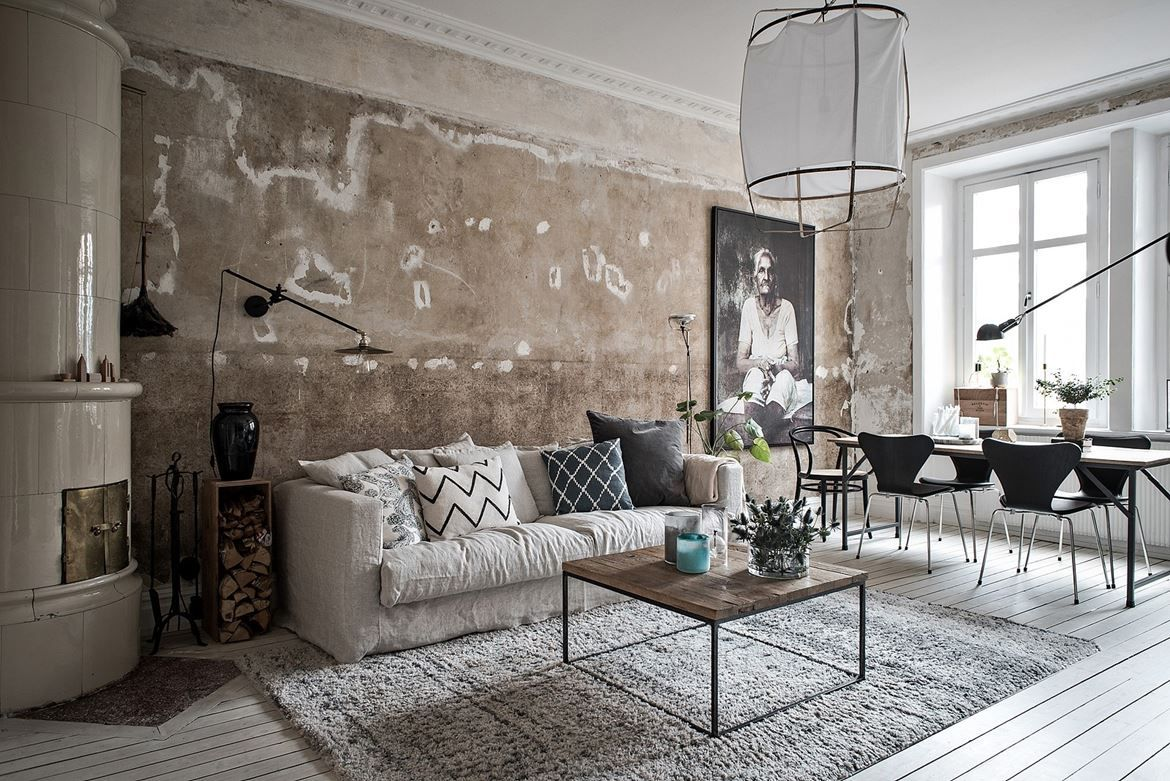 distressed living room. source: italian bark | distressed