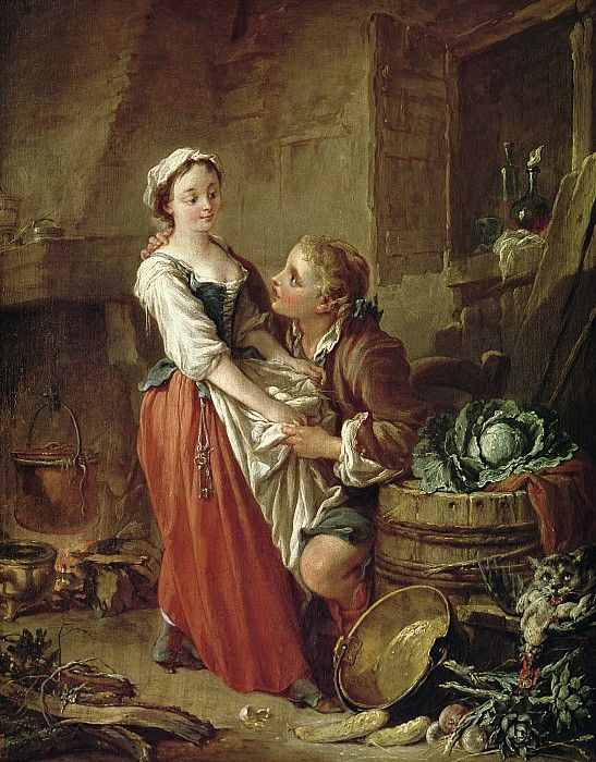 The Beautiful Kitchen Maid By Francois Boucher Rococo Art