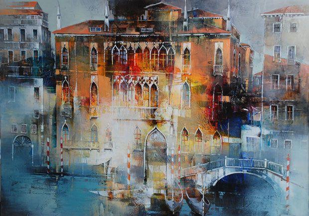 Nadia Cascini Peinture De Venise Paysage Urbain Peinture Paysage